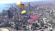 The Golden Knights performed with our GK Alumni members of the All Veteran Parachute Team including the Navy Seal Leap Frogs. First time ever that the Chicago Air and Water Show had three parachute teams.