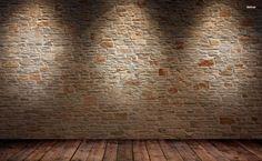 Brick wall and wood floor HD Wallpaper