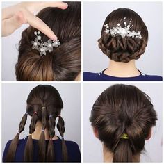 3 Glamorous updos to try this winter! 3 Glamorous updos to try this winter! Braided Updo For Short Hair, Formal Hairstyles For Long Hair, Cute Hairstyles, Wedding Hairstyles, Easy Vintage Hairstyles, Homecoming Hairstyles, Hair Up Styles, Natural Hair Styles, Chignons Glamour
