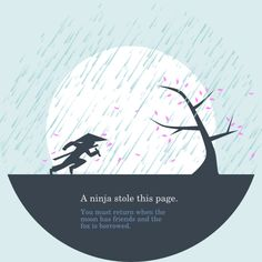 404 page not found - A ninja stole this page