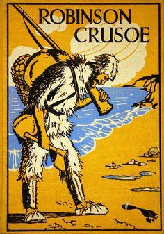 Crusoe,Robinson (Personaje de ficción). Robinson Crusoe / by Daniel Defoe ; with illustrations by Elenore Plaisted Abbott [192-?]