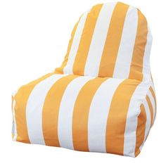 Vertical Stripe Bean Bag Chair Color: Yellow - http://delanico.com/bean-bag-chairs/vertical-stripe-bean-bag-chair-color-yellow-547138166/
