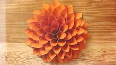 Marianne demonstrates how to make a simple but gorgeous giant paper dahlia.