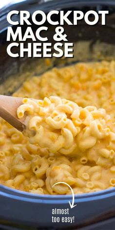 This creamy crockpot macaroni and cheese starts with uncooked macaroni. Just throw the milk, cheese, and seasonings in the slow cooker for a meal everyone will love! #crockpot #macandcheese #dinner… More