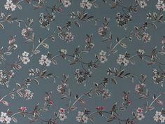 Polsterstoff Siam, 280 cm, anthrazit, SIAM-90,  bei stoffe-hemmers.de, Sehr hochwertiger Polster- und Dekostoff, mit schönem Jacquard-Blumenmotiv,