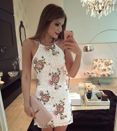 Unique Prom Dresses, Sheath Halter Sleeveless Short Ivory Homecoming/Prom Dresses with Appliques, There are long prom gowns and knee-length 2020 prom dresses in this collection that create an elegant and glamorous look Popular Dresses, Party Dresses For Women, Summer Dresses, Long Prom Gowns, Homecoming Dresses, Fashion Vestidos, Fashion Dresses, Rompers Women, Jumpsuits For Women