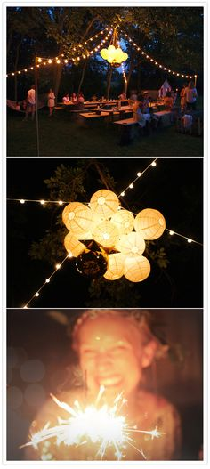 Rooftop party tip...set the mood with fabulous lighting.