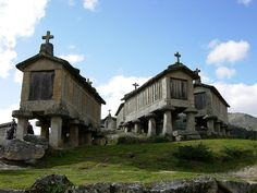 The Espigueiros of Soajo, used by early settlers to warehouse and protect food crops/Peneda-Gerês_National_Park