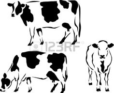 Illustration of logo style dairy cow vector art, clipart and stock vectors. Cow Logo, Cow Tattoo, Doodle Drawing, Cow Vector, Holstein Cows, Cow Pictures, Dairy Cattle, Cow Face, Cow Pattern