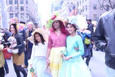 Pretty ladies on 5th Ave Easter Sunday 2015