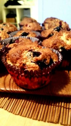 Some muffins with black and red currant. They are super yummy and so easy to make.