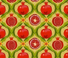Papa's pomegranates fabric by bippidiiboppidii on Spoonflower - custom fabric