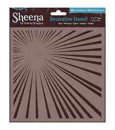 Crafter's Companion Sheena Douglass Burst Decorative Stencil