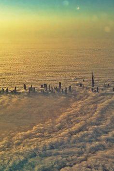 Burj khalifa under foggy. 12 /05/ 2013