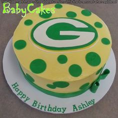 Greenbay Packers Cake for a girl