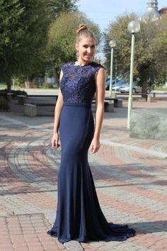Modré plesové šaty - dlouhé šaty - maturitní šaty www.svatebninella.cz 7eba1d5963