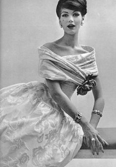 Ciao Bellísima - Vintage Glam; Model wearing Jacques Griffe; Photo by Philippe Pottier, 1957