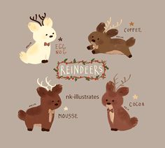 christmas reindeer gif art by nk-illustrates