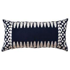 ALIA BILGRAMI Natural elegance  [Ankasa Cabo Pillow V in Navy & Ivory]