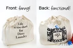 Sewing Tutorial: Make a Personalized Laundry Bag