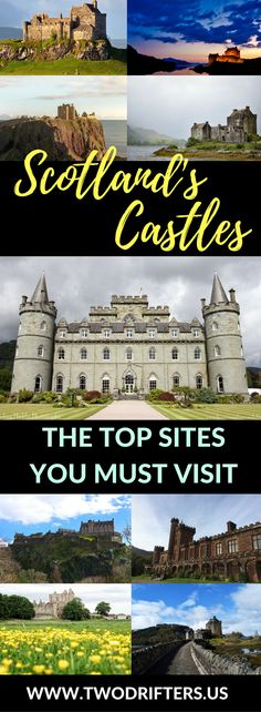 Scottish castles - Scotland is an amazing country. Filled with history, myth, and even a bit of magic. This list shares the very best castles in Scotland you truly MUST visit. #castles #scotland #travel Things to do in Scotland | Castles of Scotland | Scotland travel guide | Things to do in Edinburgh