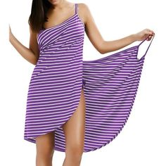 Oufisun Women Plus Size Pareo Beach Cover Up Wrap Dress Bikini Bathing Suit Cover Ups Robe De Plage Beachwear Femme Tunic Kaftan Modelos Fashion, Summer Stripes, Clothing Sites, Women's Clothing, Swimsuit Cover Ups, Beach Dresses, Fashion Outfits, Cheap Fashion, Fashion Site