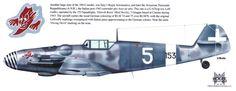 "Messerschmitt Bf 109 G-6trop { ex Luftwaffe } 153 Squadriglia ""Diavoli Rossi 3 Gruppo Comiso 1943 ."