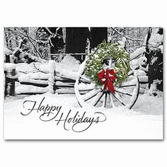 Welcoming Sight Discount Christmas Cards | Winter Holiday Cards | Deluxe
