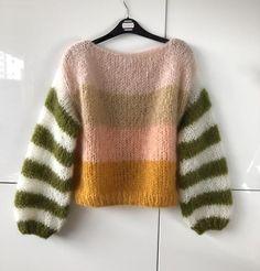 Mohair Sweater, Knit Fashion, Sweater Weather, Hand Knitting, Knitwear, Knit Crochet, Pattern, How To Wear, Olive Green