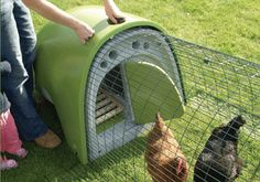 I thought this was a nifty product for urban homesteaders. The Eglu is an easy to setup chicken coop that can house 4 medium sized chickens or 6 bantams. The eglu features Twin wall insulation, draft free ventilation, perching bars, a nesting box, and plenty of trays that make it easy to clean and easy to collect eggs. Choose from 5 colors of 100% recycled plastic.
