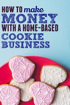 A home-based cookie Business is a great way to make money from home if you love cookies treats. Here is how to get started selling cookies from home. You can sell cookies that you make at home and start your own side hustle and earn extra income. Great money maker Home Bakery Business, Baking Business, Cake Business, Business Ideas, Iced Sugar Cookies, Royal Icing Cookies, Cupcake Cookies, Buttercream Decorating, Cookie Decorating