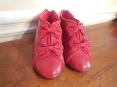 Size 7 8  Vintage Children Toddler Girl Red Patent by LittleMarin
