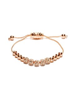 #4....Metal & Crystal Beaded Friendship Bracelet | Women's Bracelets | THE LIMITED.  Blush or Silver