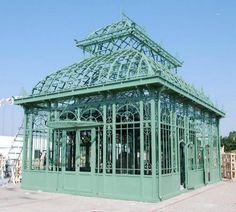 Large Cast Iron Garden Green House or Conservatory, Tempered Glass Included , Victorian Style 50-03356 - thegatz