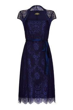 olivia dress in celeste blue lace by nancy mac | notonthehighstreet.com
