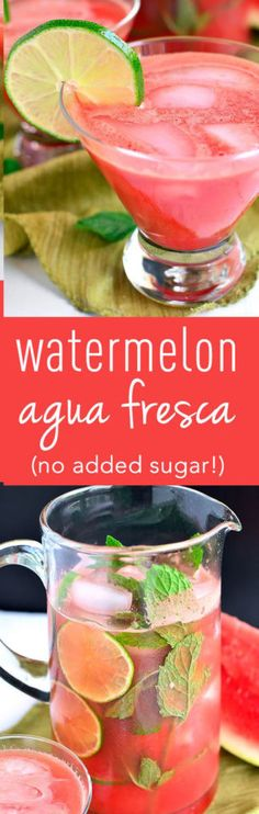 Watermelon Agua Fresca – Medi Idea