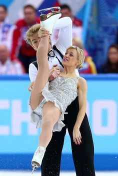 Penny Coomes and Nicholas Buckland of Great Britain compete in the Figure Skating Team Ice Dance during day one of the Sochi 2014 Winter Olympics in Sochi, Russia.