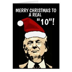 funny donald trump christmas cards for her holiday card