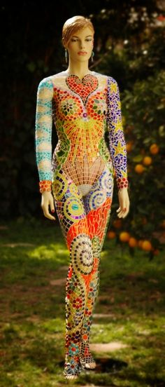 Sculpture/ 3D - TIFFANY MILLER MOSAICS  Not the figure from the ShadeStore catalogue, but a great starting point too