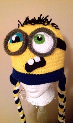 Evil Minion Beanie | Crochet BABY purple Despicable Me evil minion hat 0-12 months