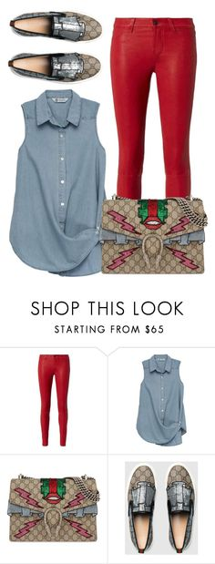 """Simply Me & Gucci"" by perichaze ❤ liked on Polyvore featuring L'Agence, Bobeau and Gucci"