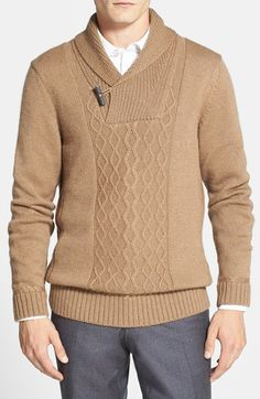 Free shipping and returns on BOSS HUGO BOSS Camel Hair & Wool Shawl Collar Sweater at Nordstrom.com. A classic toggle closure details an elegant shawl-collar sweater crafted from a fine blend of camel hair and wool. Traditional arrant stitching patterns the front.