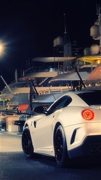 Ferrari 599 Gto White Night Iphone Wallpapers With Images Car