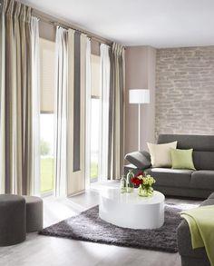 Gardinen, Sonnenschutz, Plissee - LivingReet: moderne Wohnzimmer von UNLAND International GmbH