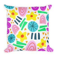 Abstract Geometric Pattern Throw Pillow (2 sizes available)