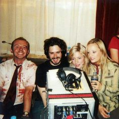 On the set of Shaun of the Dead