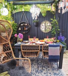 Outdoor Dining Chairs, Dining Chair Set, Outdoor Seating, Outdoor Furniture Sets, Outdoor Decor, Childrens Play Area Garden, Contemporary Garden Rooms, Small Herb Gardens, Small Garden Design