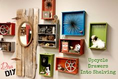 Upcycle Drawers Into Shelving | Leanne Lee - The Diva of DIY