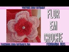 Flor em Croche - Professora Fernanda Reis - YouTube