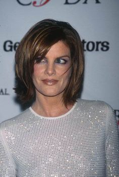 Rene Russo at the 18th Annual CFDA Fashion Awards at the 69th Regiment Armory in New York City. June... Rene Russo, Hot Hair Styles, Medium Hair Styles, Hair Day, New Hair, Hair Affair, Great Hair, Hair Lengths, Carrie